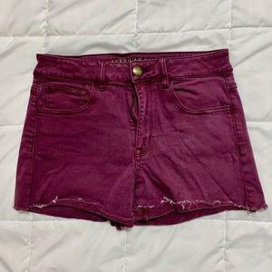 Maroon American Eagle Shorts (Size: 8)